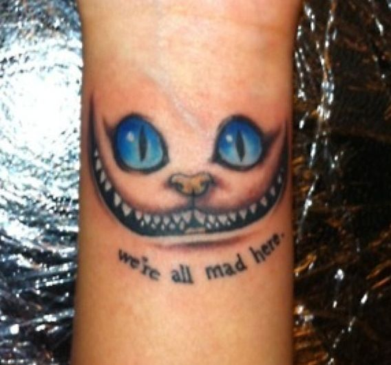 Alice In Wonderland Quote Tattoos: Alice In Wonderland Cheshire Cat Tattoo
