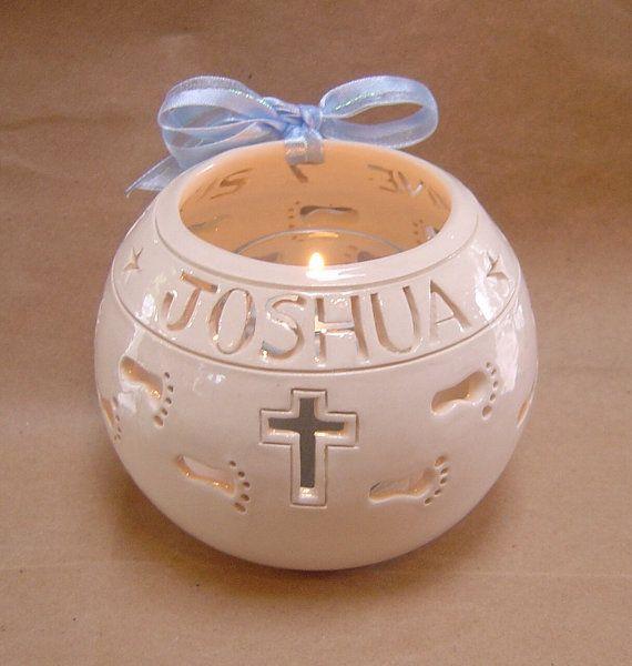 Christian Catholic baptism christening personalized candle