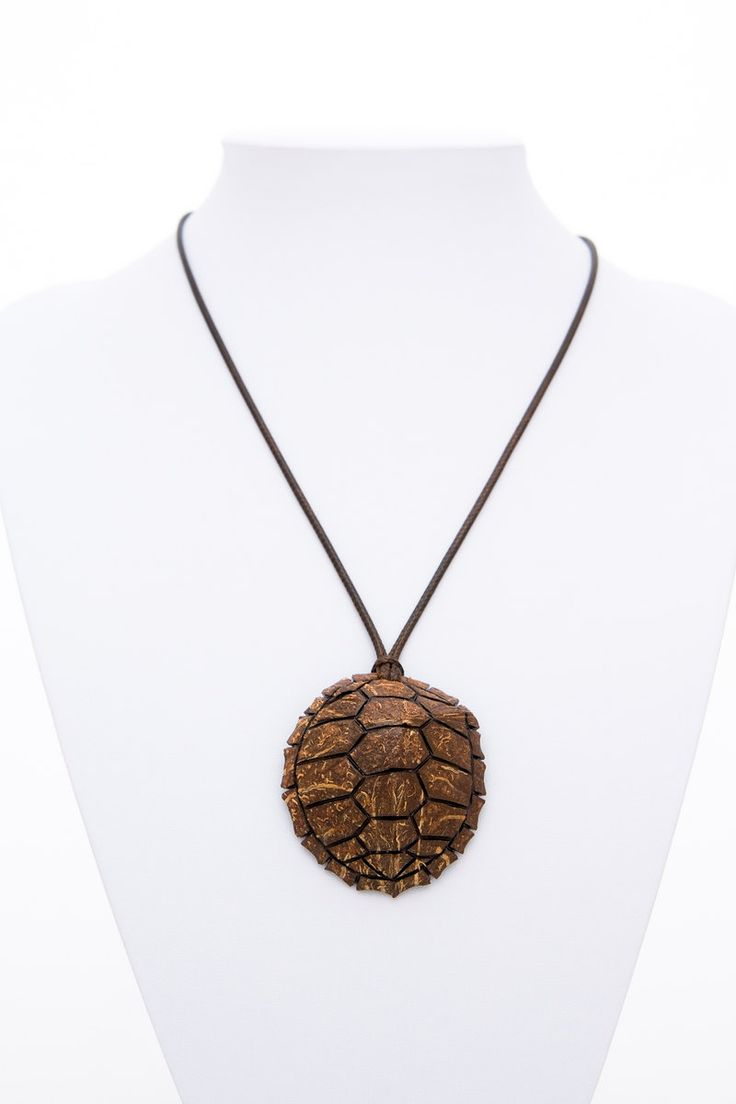 "Handmade ""Turtle"" pendant from coconut shell natural animal pendant exotic jewelry hand carved unisex pendant brown pendant orange pend - $47.20 USD"
