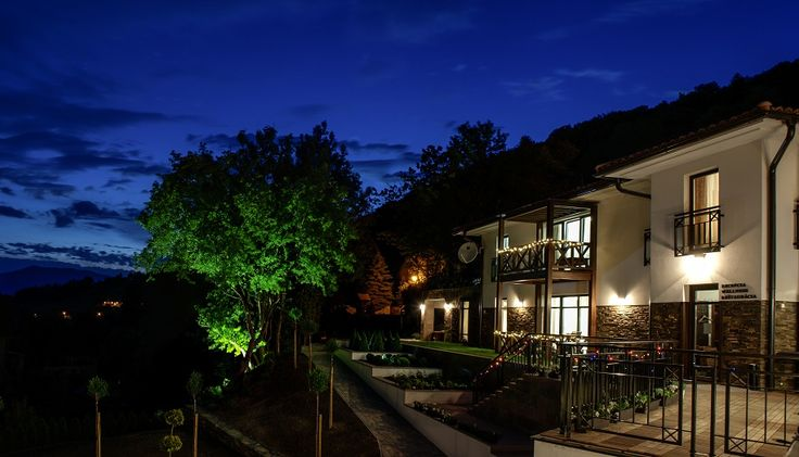 Villa Helia at night