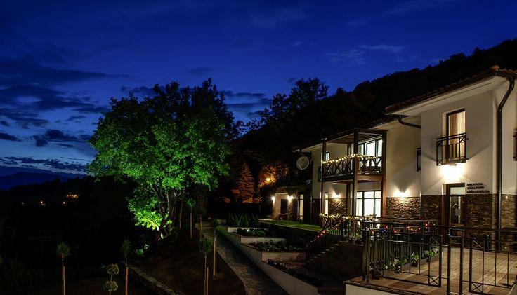 Villa Helia at night