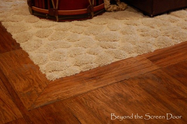 Beyond The Screen Door Inset Carpet In Wood Floor For