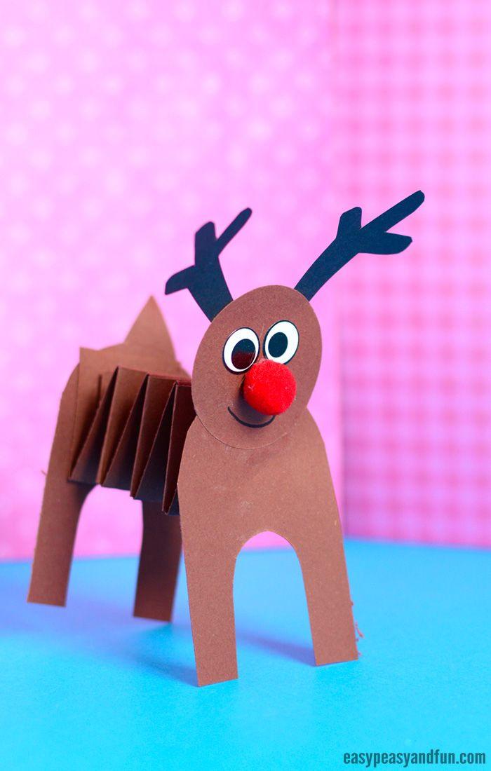 Accordion Paper Reindeer Craft 3rd Grade Crafts Reindeer Craft