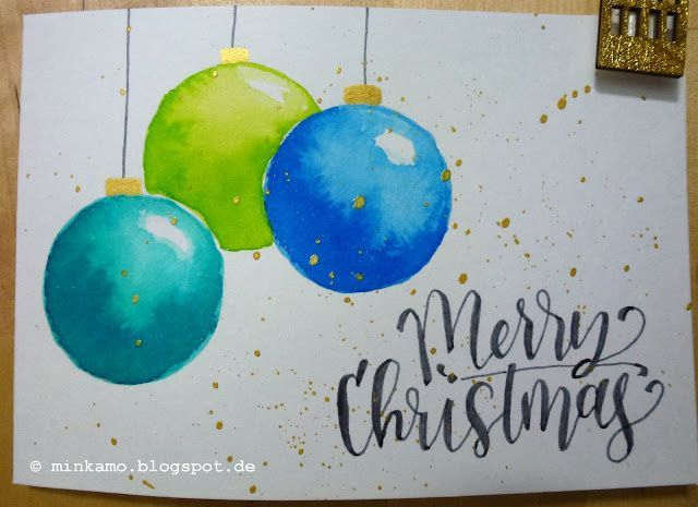 Aquarell Weihnachtskarten Watercolour Christmas Aquarell