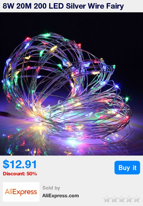 8W 20M 200 LED Silver Wire Fairy String Light Festival Christmas Wedding Party Decoration Lamp With UK Plug Adapter DC12V * Pub Date: 23:20 Apr 4 2017