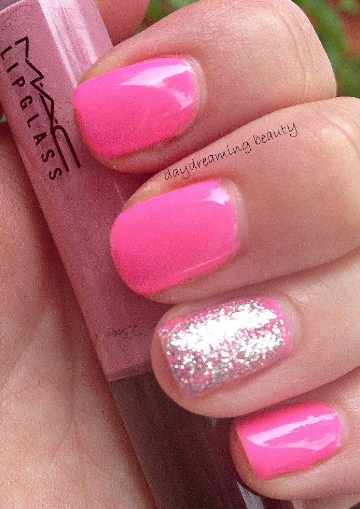 Gelish Make You Blink Pink and Orly Tiara NOTD