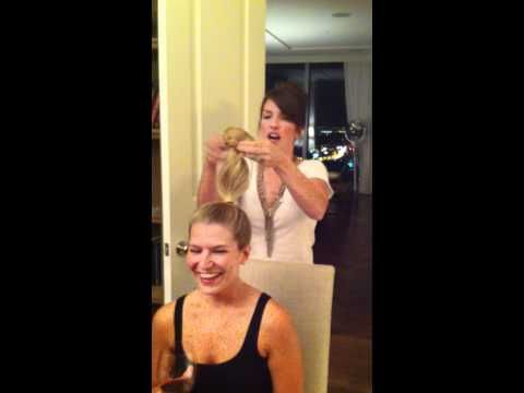 The only Sock Bun video that actually shows you how to do it!!!--Perfect if you are having a bad hair day!!!!