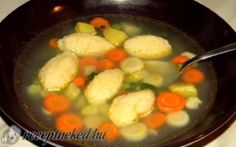 Egyszerű daragaluska leves recept fotóval