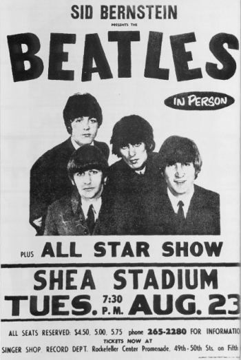 The Beatles in concert poster