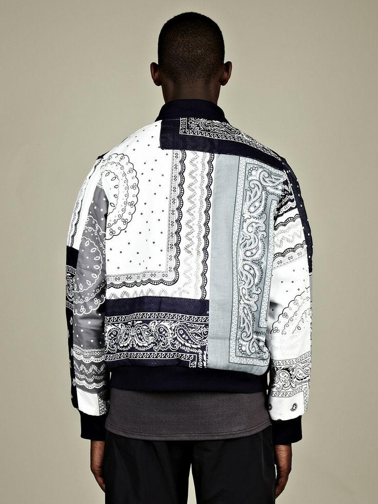 Christopher Shannon Paisley Bomber Jacket Jackets