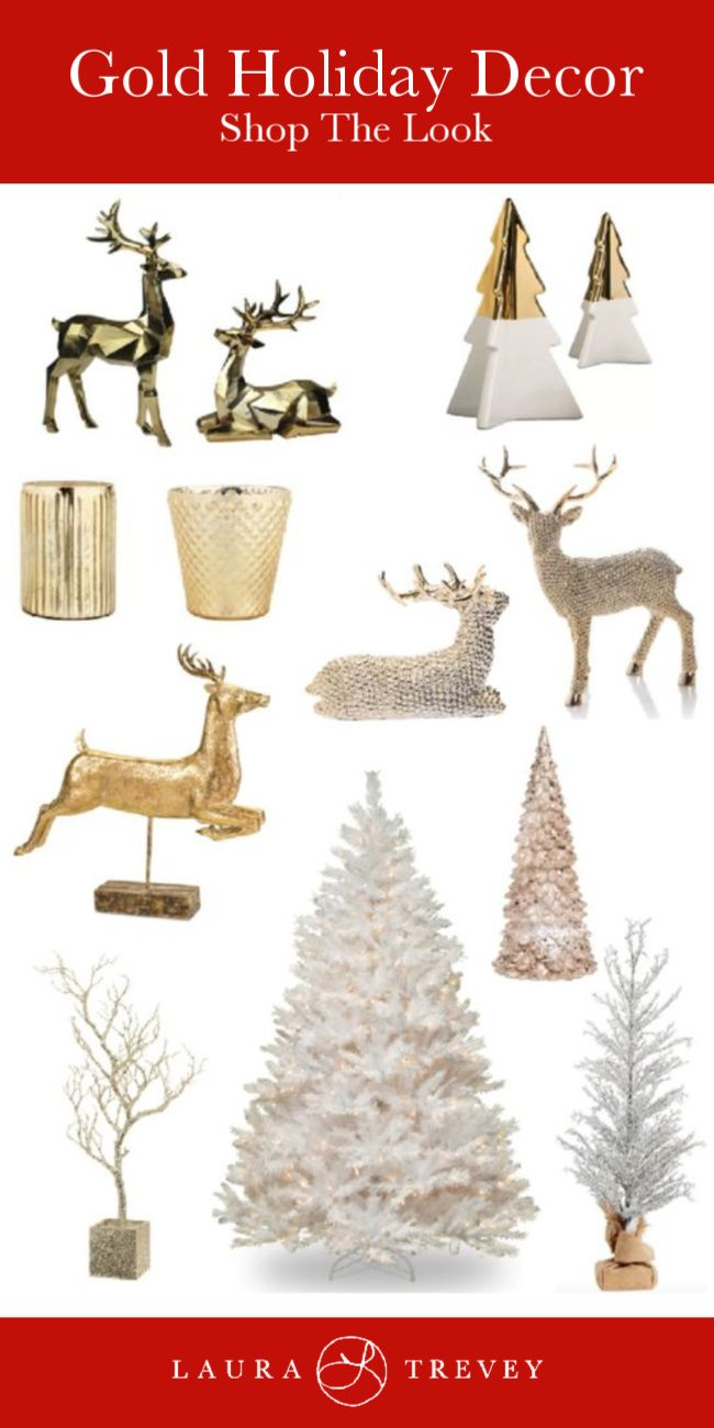 Gold Holiday Decor For Every Day Too | DIY Holiday Decorations ...