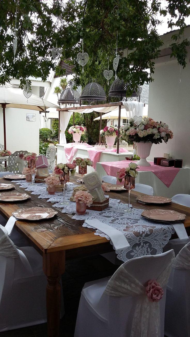 Beautiful pink babyshower @ Villa Maria Guest Lodge