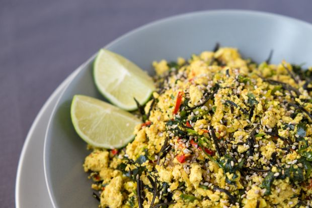 Lemongrass and Arame Scrambled Tofu - vegan and gluten free.