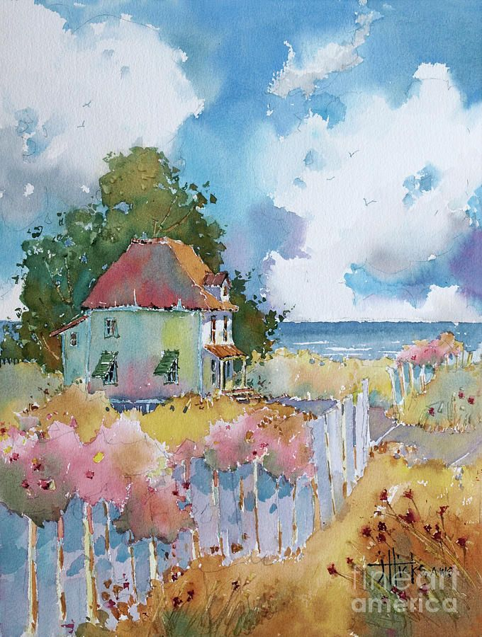 Gulf Coast Cottage Watercolor Artists Watercolor Paintings