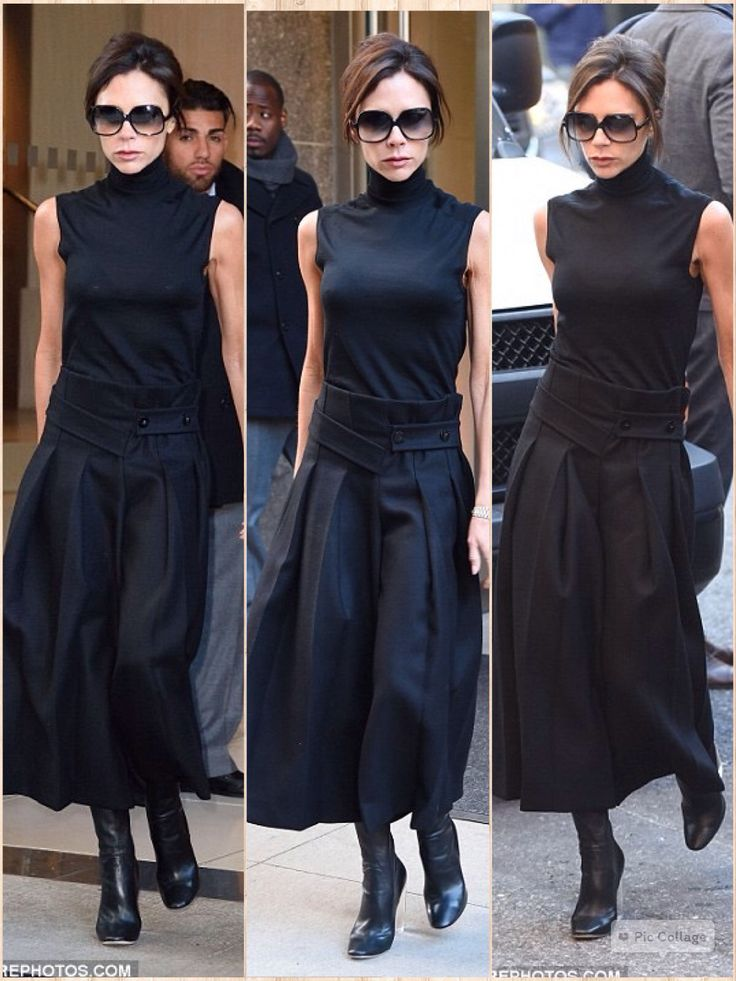 Victoria Beckham looked every inch the style queen as she headed to her first meeting during another busy day in New York on Tuesday