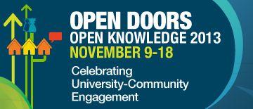 AUCC: Open Doors, Open Knowledge: celebrating university-community engagement in November 2013