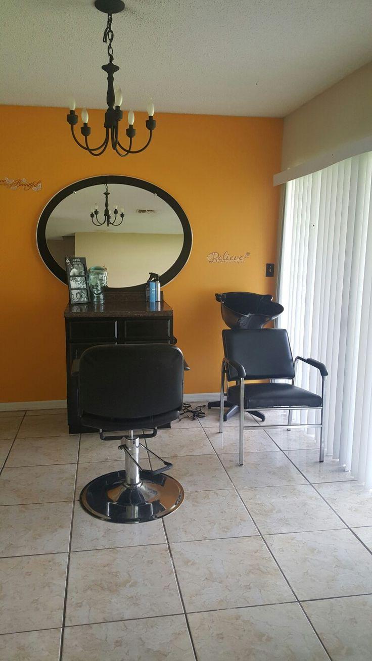 Hair salon at home!