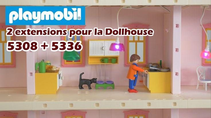 Playmobil 5336 (la cuisine) + 5308 (le salon) - Extensions de la Dollhou...