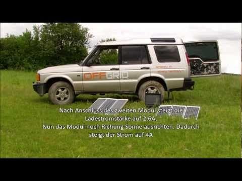 Mobile Solar-Panel-Module-Anlage Solaranlage mobil für Camping usw. www.offgrid-solar.de