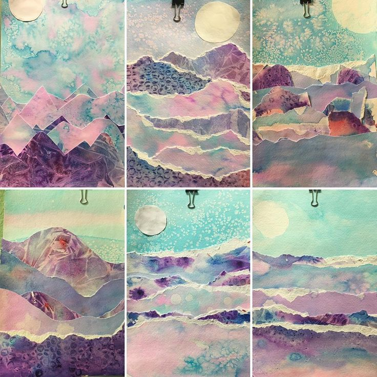 Fifth and Sixth graders explored many different types of watercolor techniques to make these polar landscapes. #brrrr #mrsmillersartstudio #gillinghamcharterschool ❄️