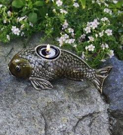 fish tea light holder