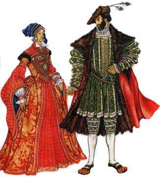 Исторический костюм англии