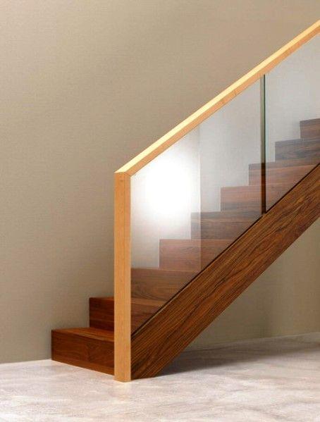 Modelos de Escadas com Corrimão de Vidro modernos