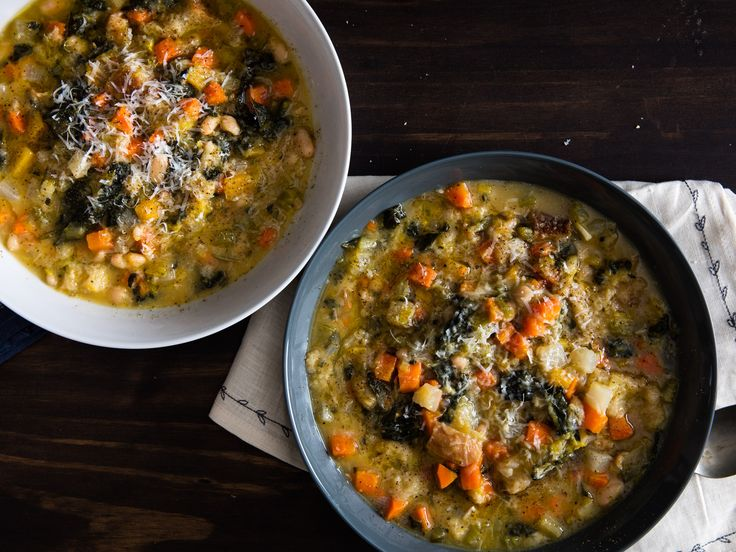This hearty Tuscan stew is loaded with tender vegetables and beans and thickened with bread. You can even simmer it down, then cook it into a savory vegetable pancake.