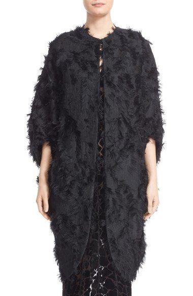 Zero + Maria Cornejo 'Koya' Fringe Jacquard Coat available at #Nordstrom