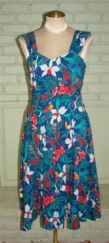 80s does 50s Hawaiin dress