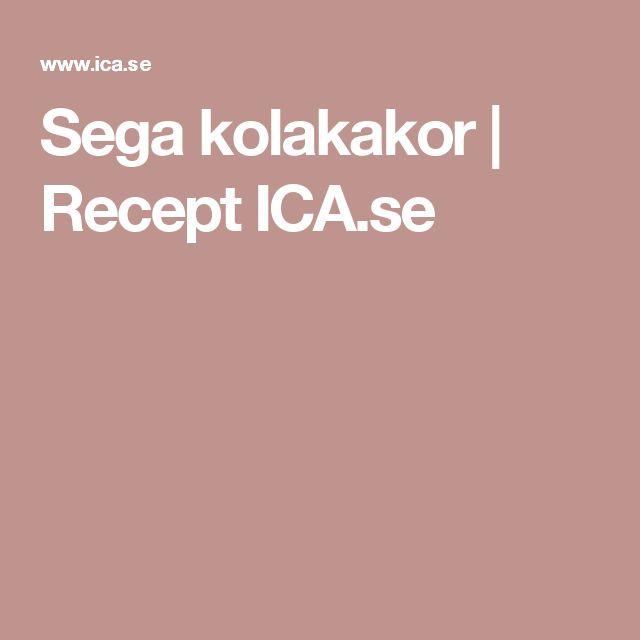 Sega kolakakor | Recept ICA.se