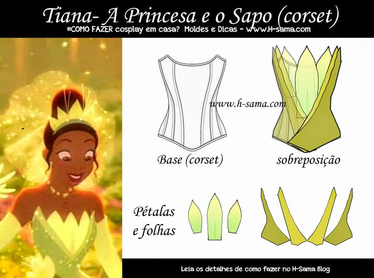 H-SAMA blog: COMO FAZER em casa? cosplay Tiana - A Princesa e o Sapo (The Princess and the Frog)