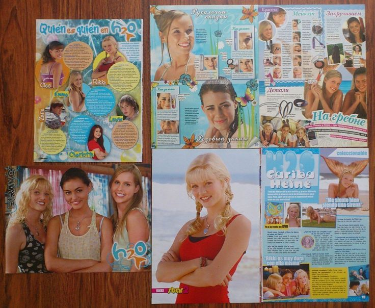 H2O - Cariba Heine, Phoebe Tonkin, Claire Holt, Posters Articles Clippings | eBay