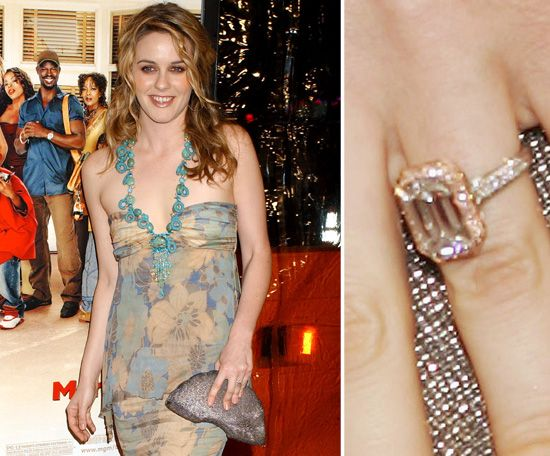 Alicia Silverstone: Alicia Silverstone's ring from Christopher Jarecki formerly belonged to his grandmother. They became engaged in 2004 after eight years of dating.