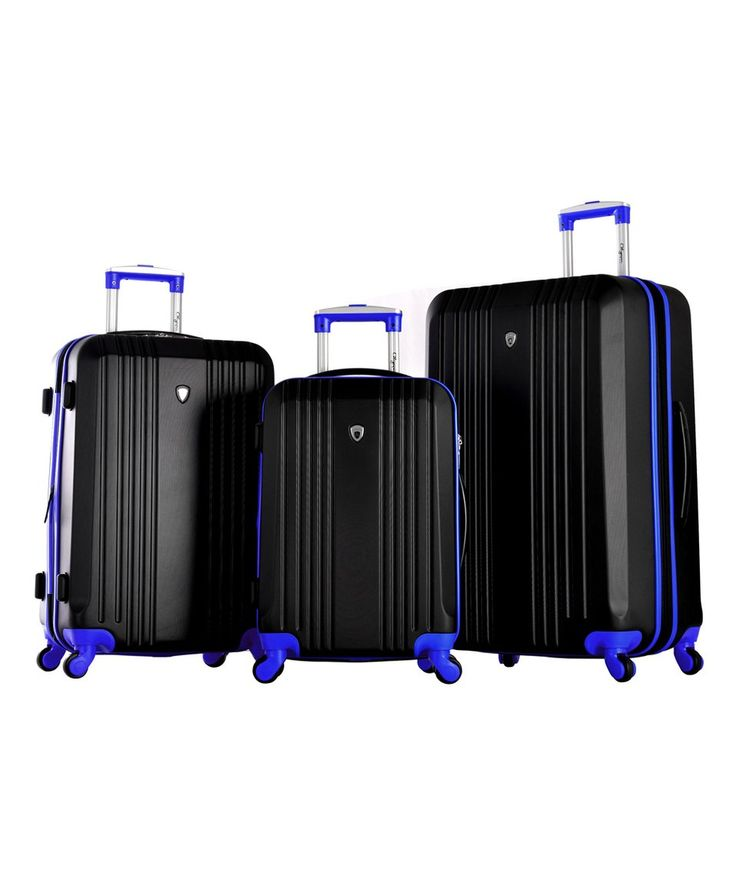 Take a look at this Black & Blue Apache II Three-Piece Hard Case Luggage Set today!
