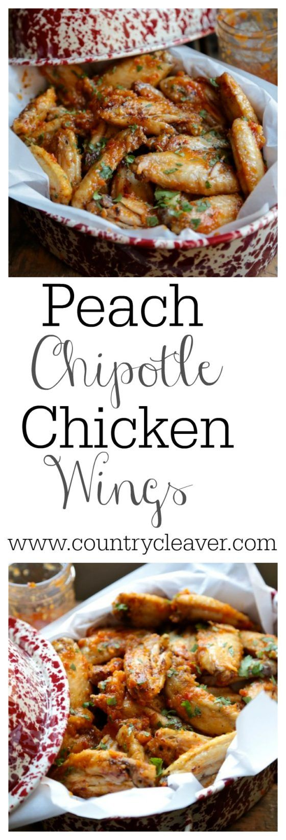 Peach Chipotle Chicken Wings