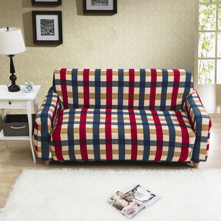 Great 23 47USD Fashion Plaid Sofa Cover Modern For Living Room One Two Three Four  Seater