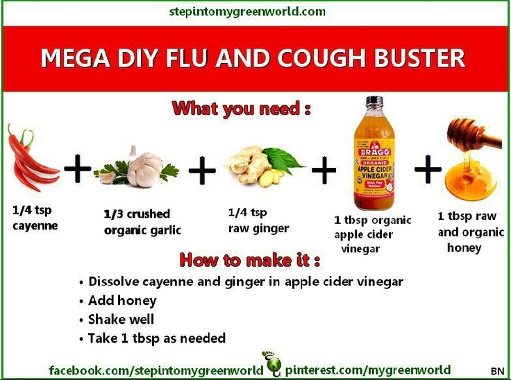 Natural Cough Medicine - this works!  a little shock when it first hits your mouth, but you get past that quickly