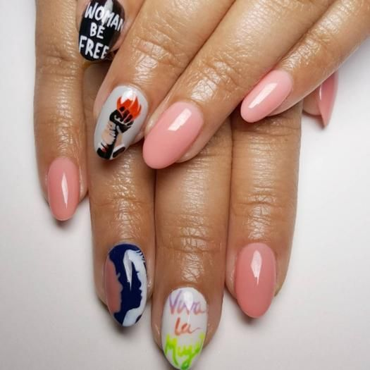 Get inspired by these beautiful nail art ideas that represent a social movement.