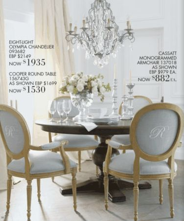 Monogrammed Dining Chairs Duh Ethan Allen DiningDecorating RoomsDining