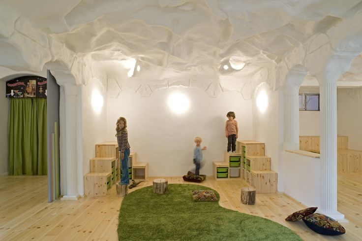 """Baukind- Kita Spreesprotten- The design is inspired by the educational philosphy of the kindergarden Spreesprotten, which follows the ideas of Maria Montessori. The most important educational goals are the creation and fostering of independence and self-confidence in the children. """"Help me to do it myself."""" We wanted to create an environment that encourages those abilities in kids."""