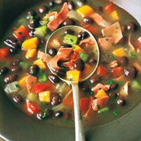Black-Bean and Corned-Beef Soup