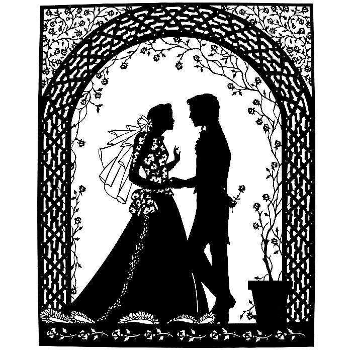Открытки, свадебные картинки черно-белые