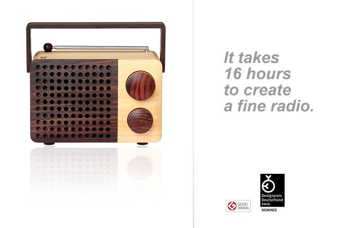 Magno Wooden Radio - Eco Design