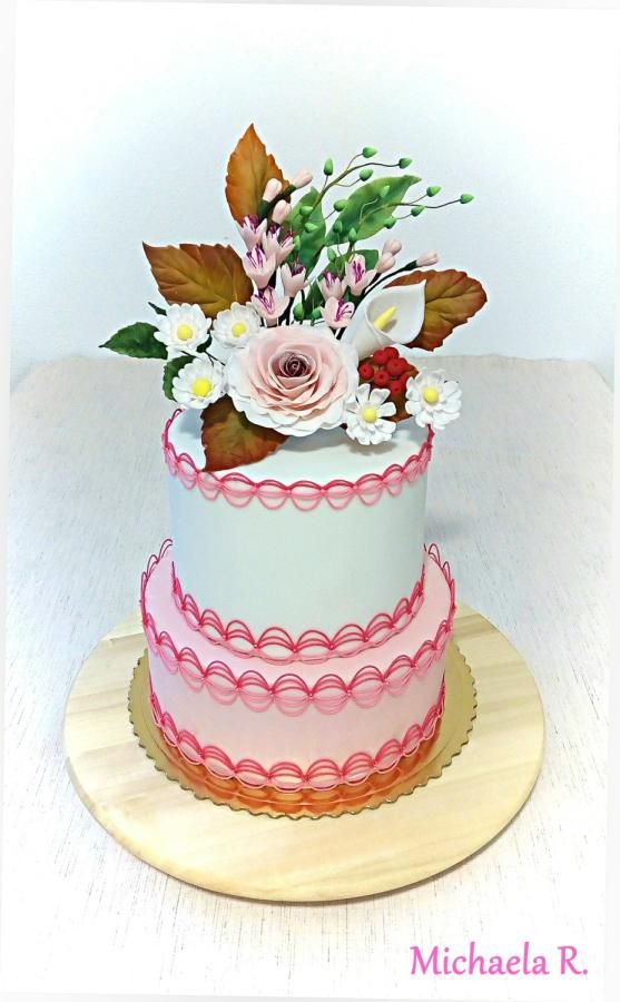 Flower - royal icing cake - Cake by Mischell