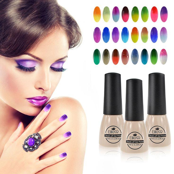 Elite99 Nail Gel Polish Long lasting UV Gel Soak off LED UV 7 mlTemperature Color Changing Nail Gel