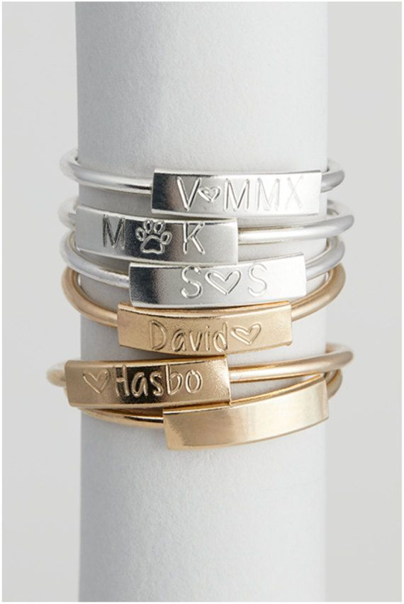 Custom Name Ring, Dainty Stackable Name Ring, Personalized Initial Ring, Mom Ring in Sterling Silver, 14kt Gold Filled [11mm-A28]