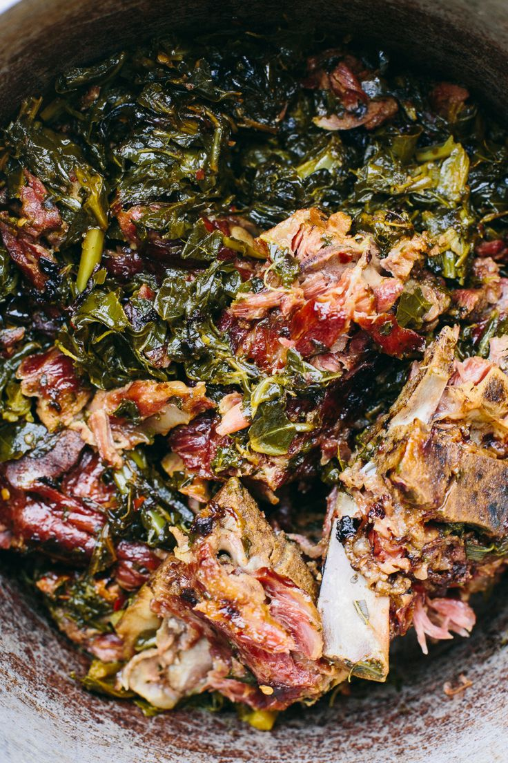 "Every time I make a pot of these greens, it feels like cheating. I make them pretty often for potlucks and gatherings, and everyone always wants to know ""my secret"", as if there is some…"