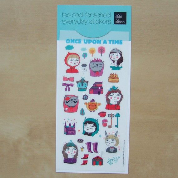 Once Upon A Time Stickers by Linotte on EtsyTime Stickers