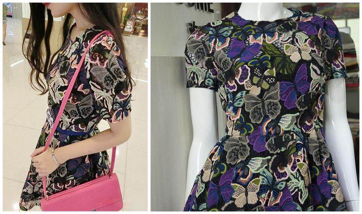 Роскошные красочные бабочки hevery ткань вышивки/вышитые бытовые действовать роль ofing пробован/ПОДЕЛКИ платье эксперт ткани купить на AliExpress